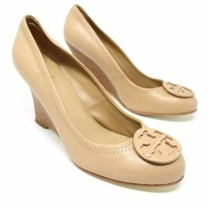 Tory Burch Sally 85mm Beige Wedge Heels